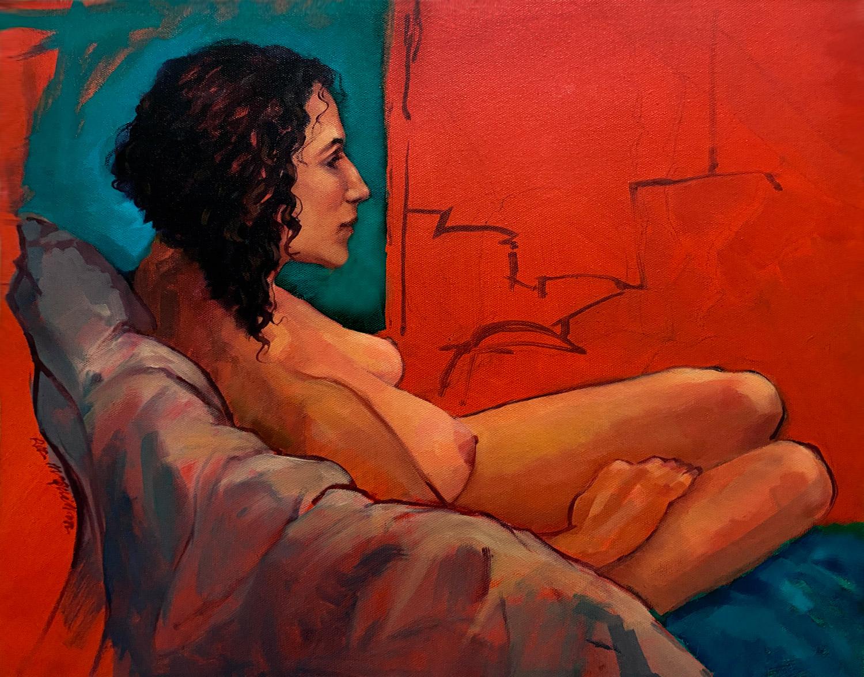 Sapidah. Portrait of a female nude.